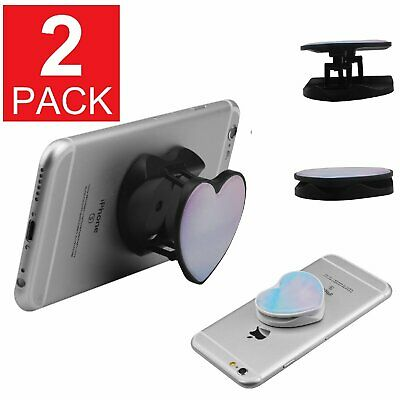 2-Pack Phone Grip Faux Marble Phone Expanding Holder Grip Mount Stand Heart Cell Phone Accessories