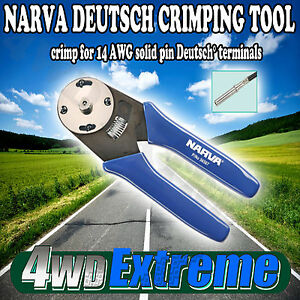 NARVA-DEUTSCH-CRIMPING-TOOL-14-AWG-SOLID-PIN-TRAILER-PLUG-CRIMPER-LIGHTS-56507
