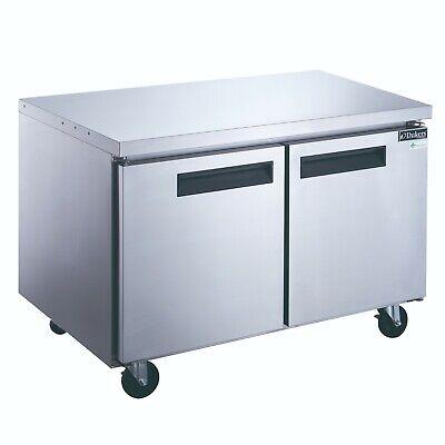 New Dukers Duc60r 2-door Undercounter Commercial Refrigerator In Stainless Steel