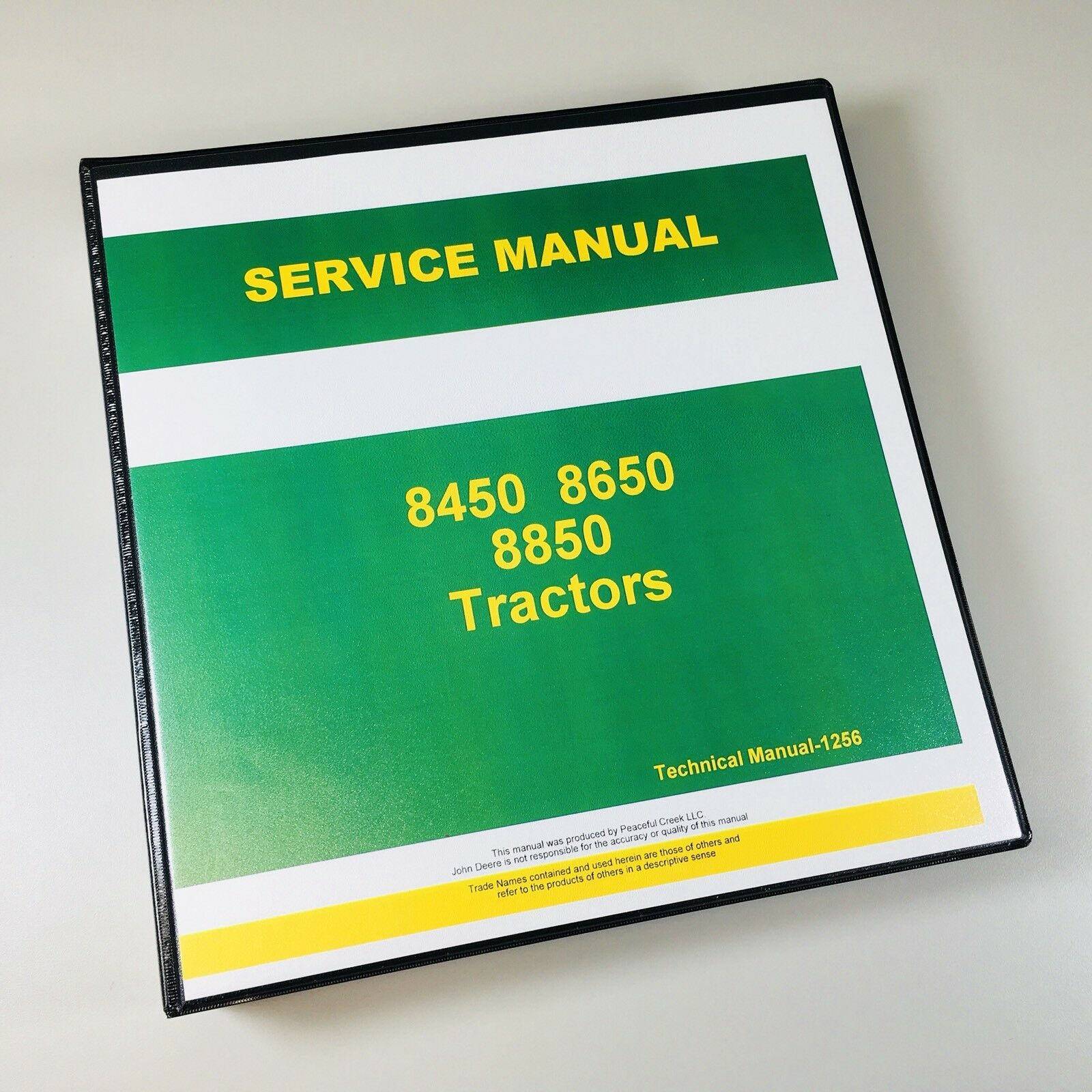 service testing manual for john deere 8450 8650 8850 tractor repair rh ebay com John Deere 8650 john deere 8450 service manual