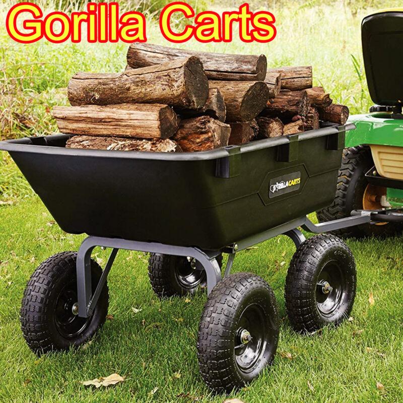 Tow Behind ATV Lawn Tractor Gorilla Poly Dump Cart Garden 12