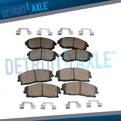 Front & Rear Ceramic Brake Pads w/Hardware for 2003 2004 2005 2006 Acura MDX