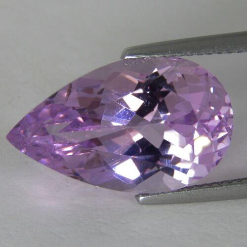 11.54Cts Natural Unique Hot Pink Kunzite Pear Shape Loose Gemstone REF VDO