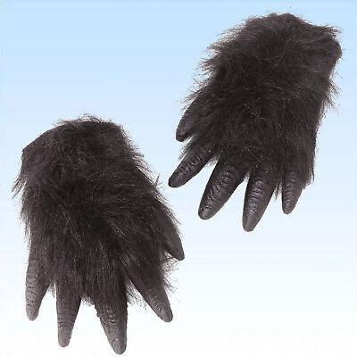 Gorilla Hände zum Überziehen Affenhände Gorillahände Tierkostüm Hand Affe - Kostüm Hände