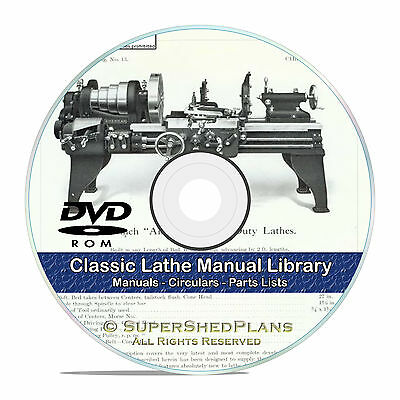 350 Lathe Owners Manuals Instructions And Parts Lists Atlas Oliver Cd Dvd V46