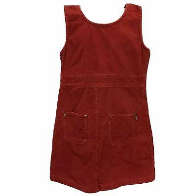 John F Gee Corduroy Jumper Sleeveless Dress Red Girls size 10 Christmas