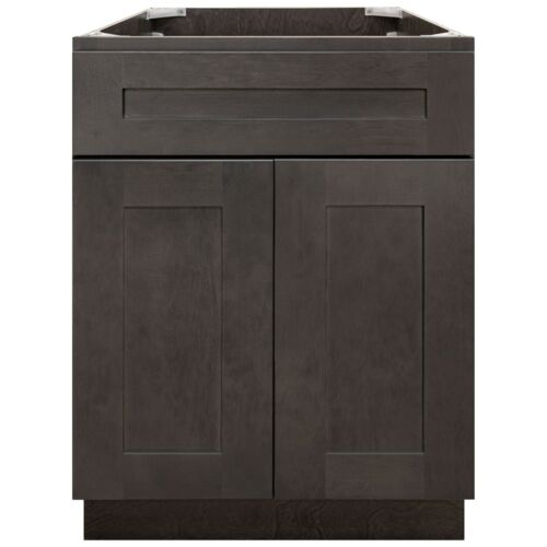 """24"""" Bathroom Vanity Base Cabinet Maple Dover Gray by LessCare"""