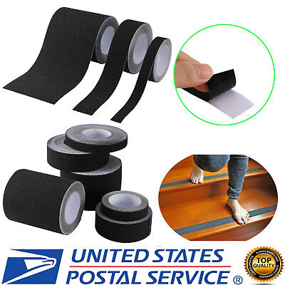 Black Anti Slip Tape Non Skid Traction Safety Grit Grip Tape Strips Adhesive