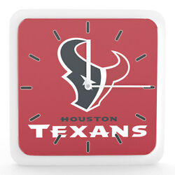 NFL Houston Texans Home Office Room Decor Wall Desk Clock Magnet 6x6