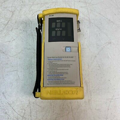 Nellcor N-20 Handheld Portable Pulse Oximeter Pre-owned W Case