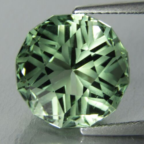 8.63Cts Natural Green Amethyst -prasiolite- Round Missing Cut Loose Gem REF VDO