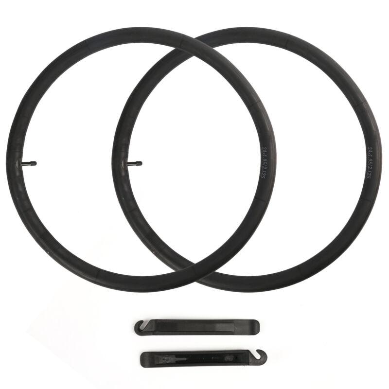 "2 Packs, 24"" inch Bike Inner Tube 24x1.95-2.125 Bicycle Rubber Tire Interior BMX"