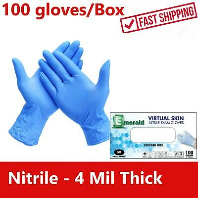 100 Nitrile Or Vinyl Disposable Gloves 4 Mil Medical Exam Latex N Powder Free