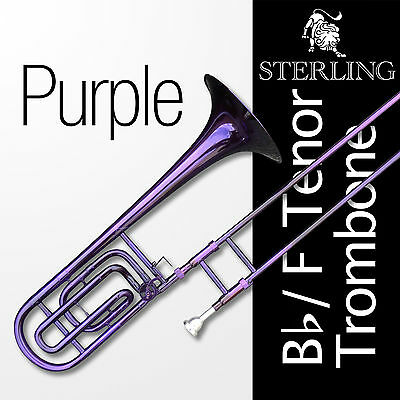PURPLE Bb/F Tenor STERLING Trombone • High Quality • With F Trigger •  Brand New, used for sale  Shipping to Canada