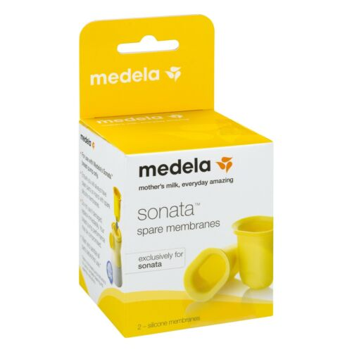 Medela Sonata Spare Membranes, Yellow,  2-Pack, Model 68055 *Brand New* SEALED