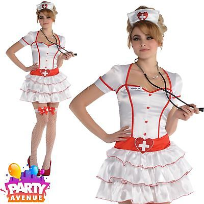 Ladies Sexy Nurse IV Fancy Dress Costume Doctor and Nurses Medical A&E