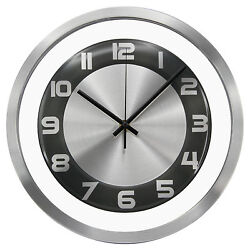 TKF 12 Aluminum Wall Clock with Free Floating Concentric Black Face Dial