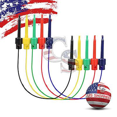 5 Pairs Wire Kit Test Hook To Hook Clip Grabbers Probe Multimeter Arduino