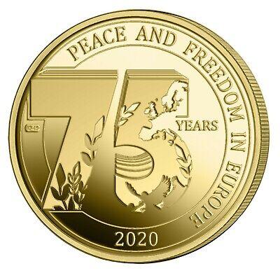 2 x 2,5 euro Gedenkmünze Belgien 2020 75 Jahre Freiheit Coincard FR und NL