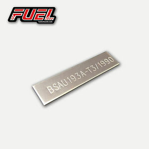 Motorcycle Exhaust BSAU Marked Plate 57mm - 304 S/S Motorbike Road Legal Stamp