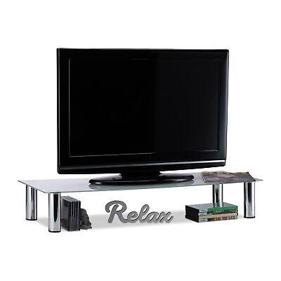 TV-Tisch Glas Glastisch Bildschirmerhöhung TV-Aufsatz Fernsehtisch Tischaufsatz
