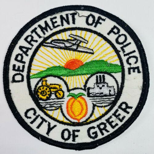 Greer Police South Carolina SC Patch (A2F)