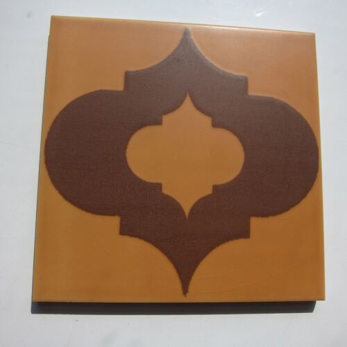"""Vintage 1960s 6"""" x 6"""" Brown Moroccan Floor Tile, 432 sq ft available, ITALY"""