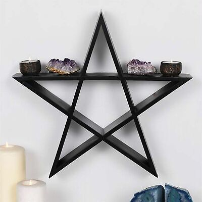 Wand-display Regal (Pentagramm Stern Wandkunst Regal Display 40cm Hoch Kristalle Teile 'Wiccan')