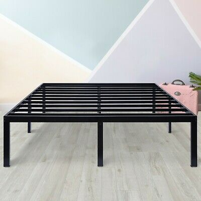 Bed Frame Assembly - SLEEPLACE 16 Inch Tall Metal Bed Frame Easy Assembly Black Twin Full Queen King