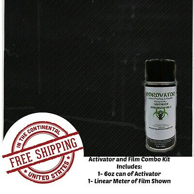 Hydrographic Water Transfer Hydro Dip 6oz Activator Carbon Fiber 22 Film Kit