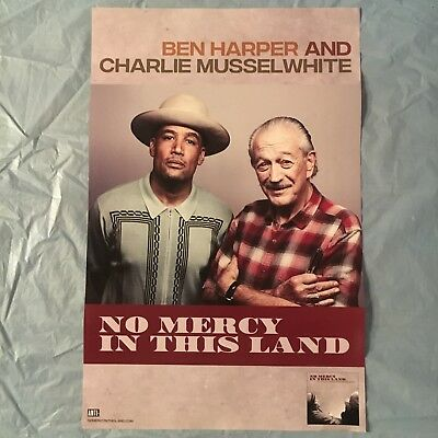 HARPER & MUSSELWHITE promo poster - NO MERCY IN THIS LAND 2018 release - 11X17