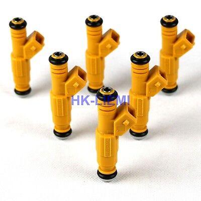 6PCS NEW Fuel Injectors For 87-98 JEEP 4.0L Replace 0280155710 0280155700