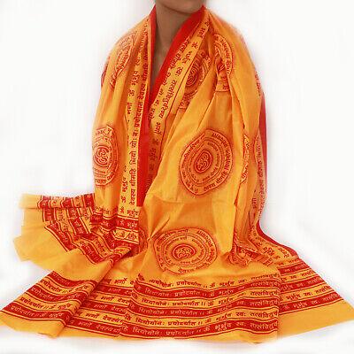 Scarf Cloth Gayatri Mantra Lunghi Sarong Benares Deco Cloth Om India Goa 6