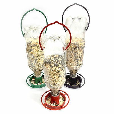 3 Hanging Wild Bird Feeders in 3 Different Colors