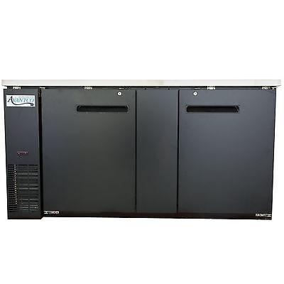 New Avantco Ubb-3-hc 69 Black Solid Door Undercounter Back Bar Refrigerator