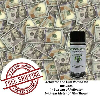 Hydrographic Film Water Transfer Hydro Dip 6oz. Activator 100 Bills Dip Kit