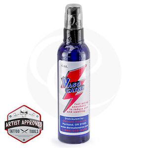 Lidocaine Vasocaine Tattoo Numbing Topical Anesthetic Spray - 4 oz