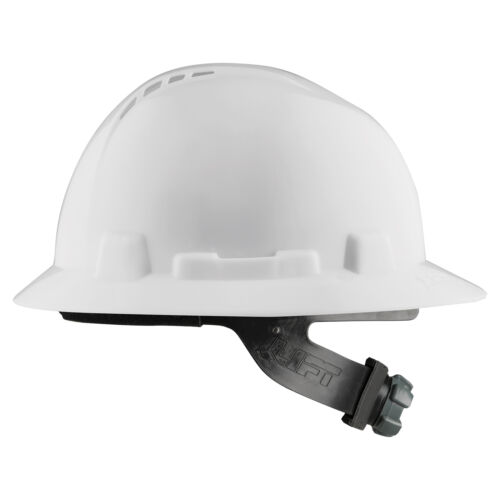 LIFT Safety Briggs Full Brim Vented Hard Hat with Ratchet Suspension - White