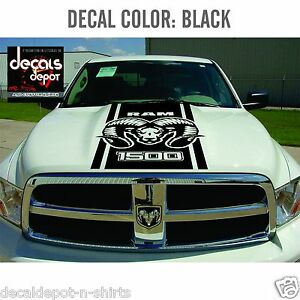 hood decal for dodge ram 1500 2500 3500 2007 2008 2009. Black Bedroom Furniture Sets. Home Design Ideas