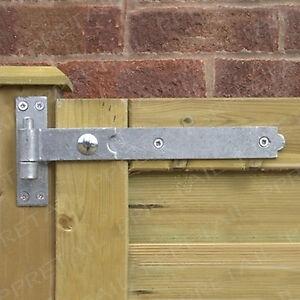 Heavy duty 400mm 16 hook band hinge pair galvanised for Door to gate kontakt