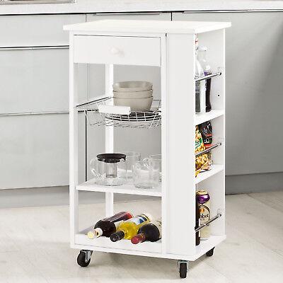 SoBuy® Küchenwagen,Rollwagen mit Schublade,Küchenregal,Servierwagen FKW12-W