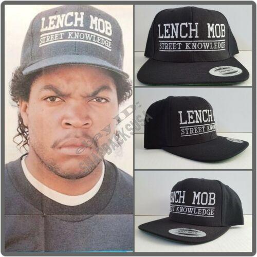 NEW! Lench Mob Street Knowledge Black Snapback Cap Hat NWA Ice Cube Compton