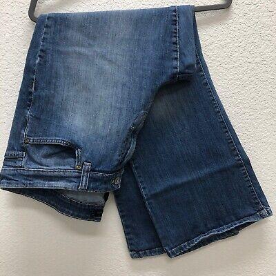 Calvin Klein Womens Jeans Size 20W Blue Denim Med Wash Cotton Blend Plus