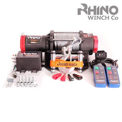 4500lb WINCH 12V Steel Cable POWERFUL Winch Quad Bike ATV Boat Winch