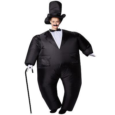 Selbstaufblasbares Unisex Kostüm Smoking aufblasbar BlowUp Fasching Karneval - Smoking Kostüm