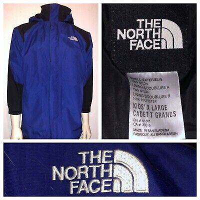 Vtg The North Face Boys Blue And Black Mountain Light Ski Shell Jacket Size XL