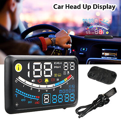 5.5' Universal OBD2 OBDII Car GPS HUD Head Up Display Overspeed Warning System