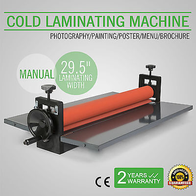 Kalt Laminiergerät Rollenlaminator Laminator Laminating 750 mm 4 Roller