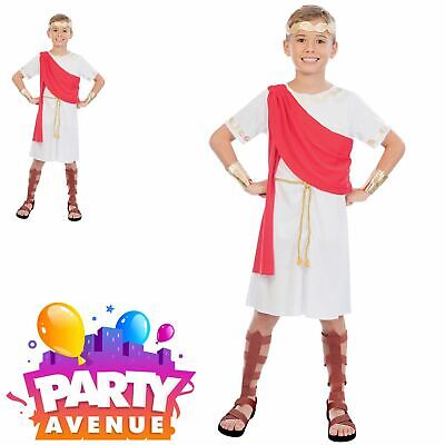 Boys Toga Roman Ancient Greek Historic Grecian Fancy Dress Up Costume