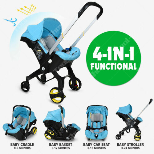 4 in 1 Baby stroller Car Seat infant luxury Newborn Light Weight Travel Foldable